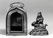 Traveller's Shrine with Figure of Wenshu (Manjusri) on Lion