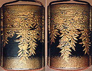 Case (Inrō) with Design of Flowering Weeping Cherry Branches