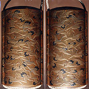 Case (Inrō) with Design of Cranes in Flight