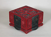 Box with Landscape Scenes and Auspicious Emblems