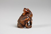 Netsuke of Two Frogs Wrestling