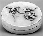Covered Box for Incense with Molded Blossoming Plum Branch Design