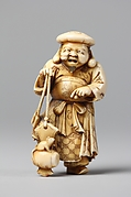 Netsuke of Figure of Daikoku with a Rat on His Mallet