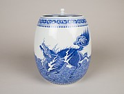 Covered Water Jar with Kirin (Mythical Chimera)