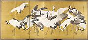 鶴図屏風<br/>Flock of Cranes
