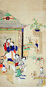 Bo Yi Gao and the White Gibbon Entertain King Zhou