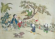 Children at Play in a Garden