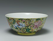 Bowl with imaginary composite flowers