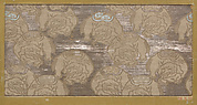 Textile fragment with repeating pattern of elephants