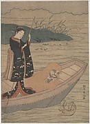 Daruma in a Boat with an Attendant