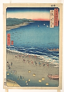 Yasashi Beach, known as Kujūkuri, Kazusa Province, from the series Views of Famous Places in the Sixty-Odd Provinces