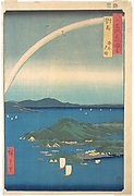 Evening Glow, Tsushima Province , from the series Views of Famous Places in the Sixty-Odd Provinces