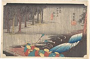 Spring Rain at Tsuchiyama, from the series Fifty-three Stations of the Tōkaidō