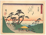 Shirasuka,  from the series The Fifty-three Stations of the Tōkaidō Road