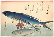Tobiuo and Ishimochi Fish, from the series Uozukushi (Every Variety of Fish)