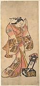 Sanjō Kantarō as a Woman Arranging Her Hair Before a Lacquer Mirror