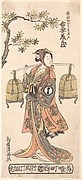 The Actor Azuma Tōzō I as a Woman Carrying Two Bird Cages