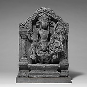 Vishnu and Lakshmi Supported by Garuda