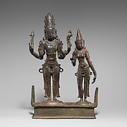 Standing Shiva and Parvati