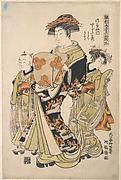 The Oiran Tsugatami of Tsuruya on Parade in the Yoshiwara