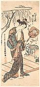 Woman In Loosened Kimono Coming From the Bath