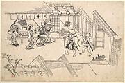The Entrance to Ageya-machi, from the series Scenes in the Yoshiwara (Yoshiwara no tei)