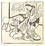 Leaf from a Book Entitled: Wakoku Hiaku-jo, One Hundred Japanese Women