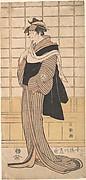 Osagawa Tsuneyo II as the hairdresser O-Roku
