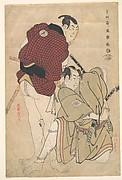 Ichikawa Omezō as Tomita Hyōtarō and Ōtani Oniji III as Ukiyo Tohei
