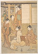 Group of Young Women on the Veranda of a Tea House