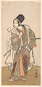 Standing figure of an actor of the Ichikawa family, probably Danjuro IV