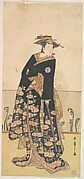 Osagawa Tsuneyo as a Tall Woman Dressed in a Black Uchikake