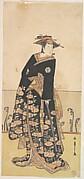 Osagawa Tsuneyo as a Tall Woman Dressed in a Black Uchikake