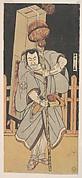 The First Nakamura Nakazo as a Rokuju-rokubu Standing at Night