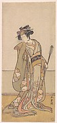 The Third Segawa Kikunojo as a Woman Walking Toward the Right