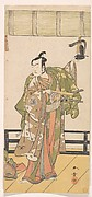 Arashi Sangoro as a Samurai Standing on the Veranda of a Great House