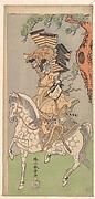 Ichikawa Danjuro V as a Warrior Mounted on a Dapple Gray Horse