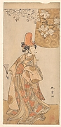 "Segawa Tomisaburo in the Role of Musume Dojoji in ""Hanagatami Kazaori Eboshi"""