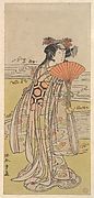 The Actor Segawa Kikunojo III as a Woman Standing near a Winding Stream