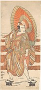 The Second Ichikawa Yaozo as a Samurai Standing in the Snow