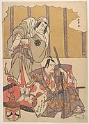 The Actors Ichikawa Danjuro I (right) 1660–1704 and Nakamura Denkuro II (left) 1719–1777 in Unidentified Roles