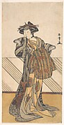 The Fourth Iwai Hanshiro as a Courtesan Dressed in a Pink Kimono