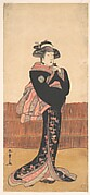 The Third Azuma Tozo as a Woman in a Black Kimono