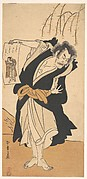 The Third Otani Hiroemon as an Outlaw Standing Near a Willow Tree