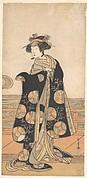 Yoshizawa Iroha as a Woman Standing on the Engawa of a House by a River