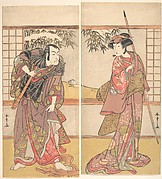 Osagawa Tsuneyo II in the Role of Oishi and Ichikawa Danjuro V in the Role of Honzo