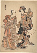 The Third Segawa Kikunojō as Ochiyo and Bando Mitsugorō as Hanbei