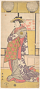 Nakayama Tatezo as a Courtesan Standing, Facing Toward the Left