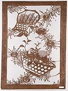 Stencil with Baskets