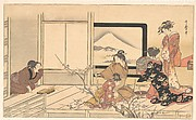 """Preparing Food for the Warbler,"" from the album Men's Stamping Dance (Otoko dōka, uguisu no esa suri)"